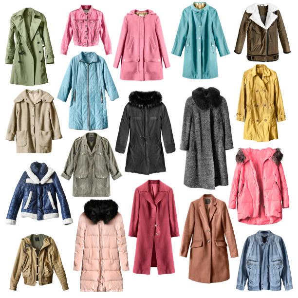 コートとジャケットは隔離された - ダウンジャケット ストックフォトと画像