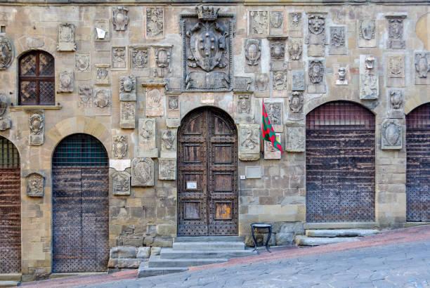 Coats of arms - Arezzo stock photo