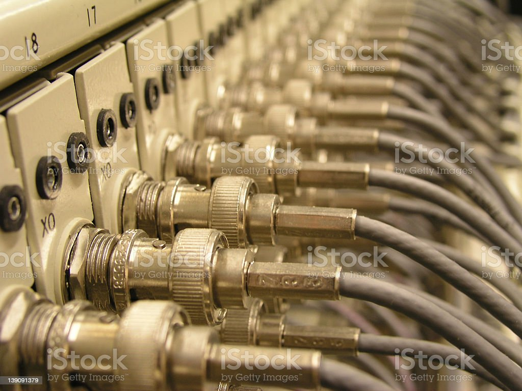 coax connections 2 stock photo