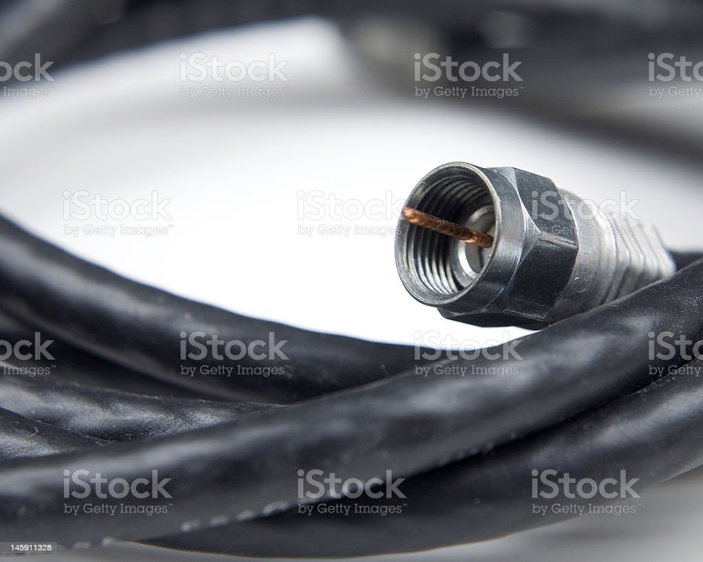 Coaxial cable stock photo