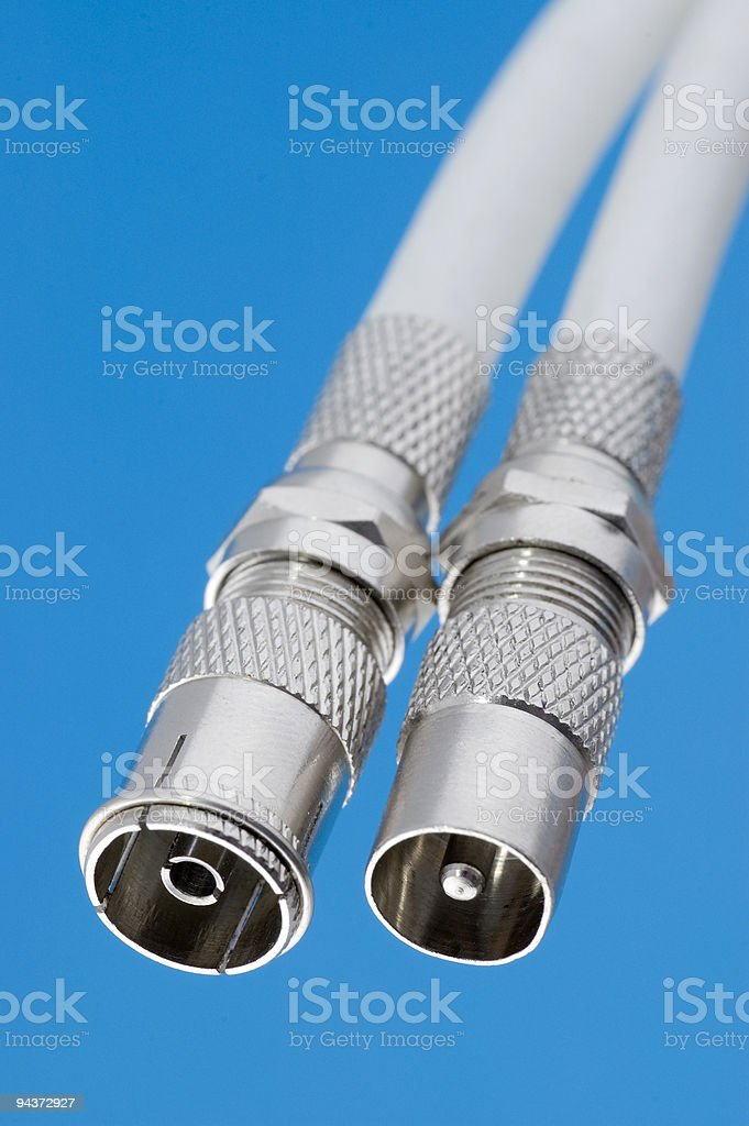 Coaxial sockets stock photo