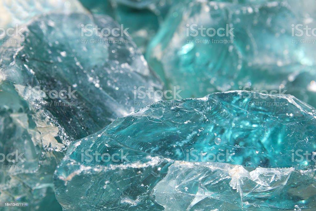 Cobalt Blue Glass Blocks Close Up royalty-free stock photo