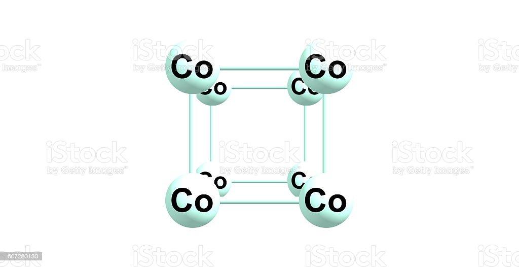 Cobalto Estructura Cristalina Aislado Sobre Blanco Foto De