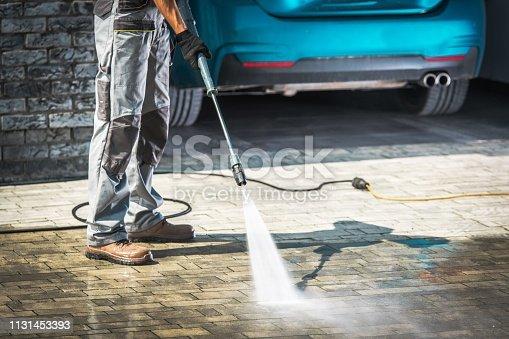 istock Cobble Driveway Washing 1131453393