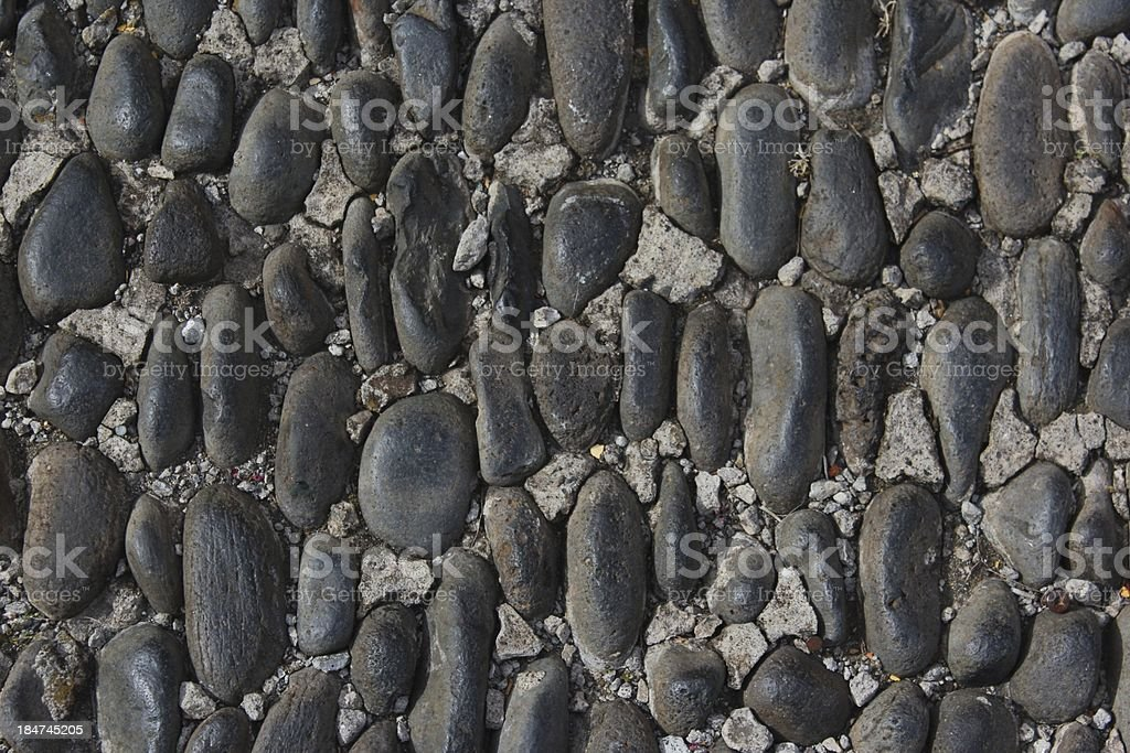 cobble pavement. stock photo