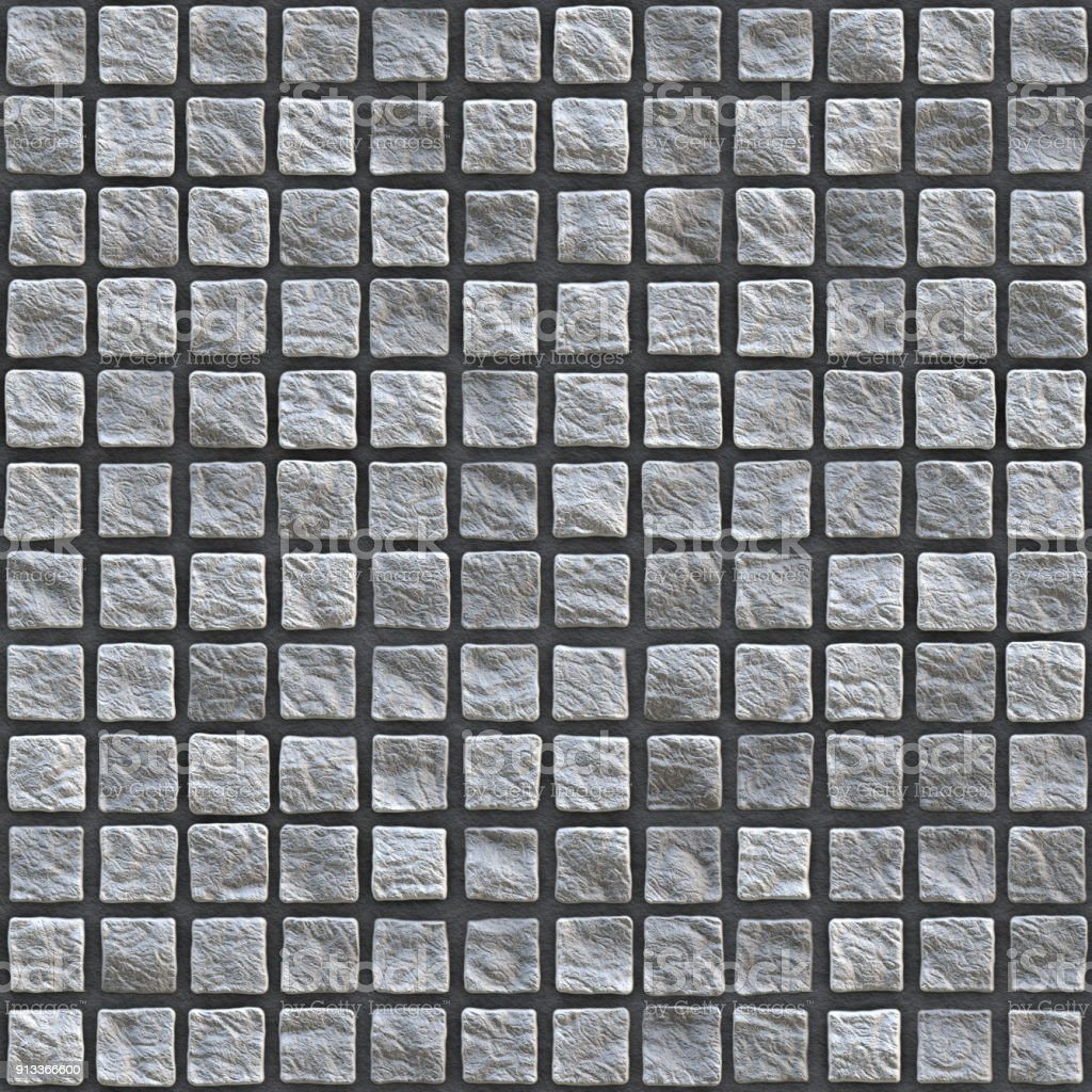 Cobble Pavement Plaster Paving Boulder Stone Patch - 02 stock photo