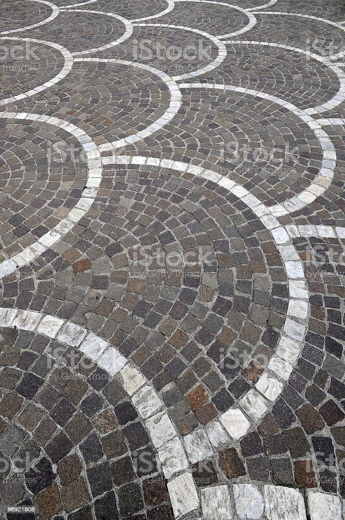 Cobble road royalty-free stock photo