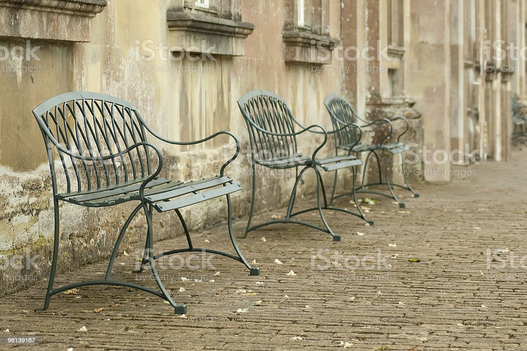 cobbled courtyard royalty-free stock photo