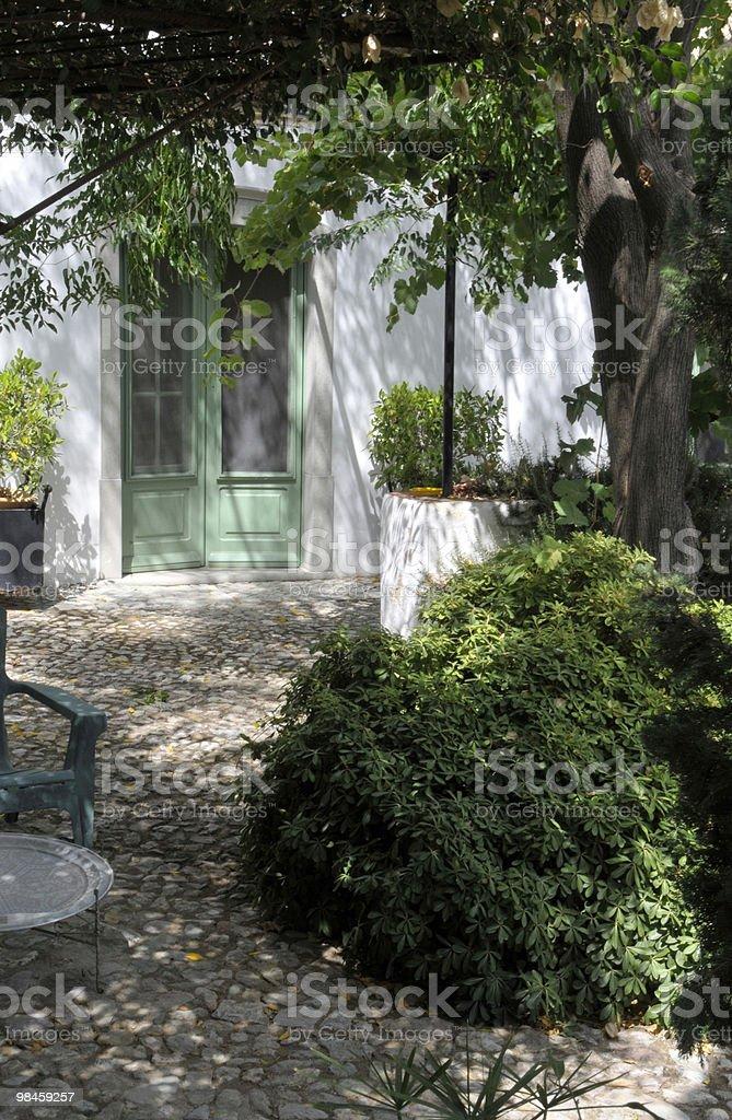 Cobbled Garden royalty-free stock photo