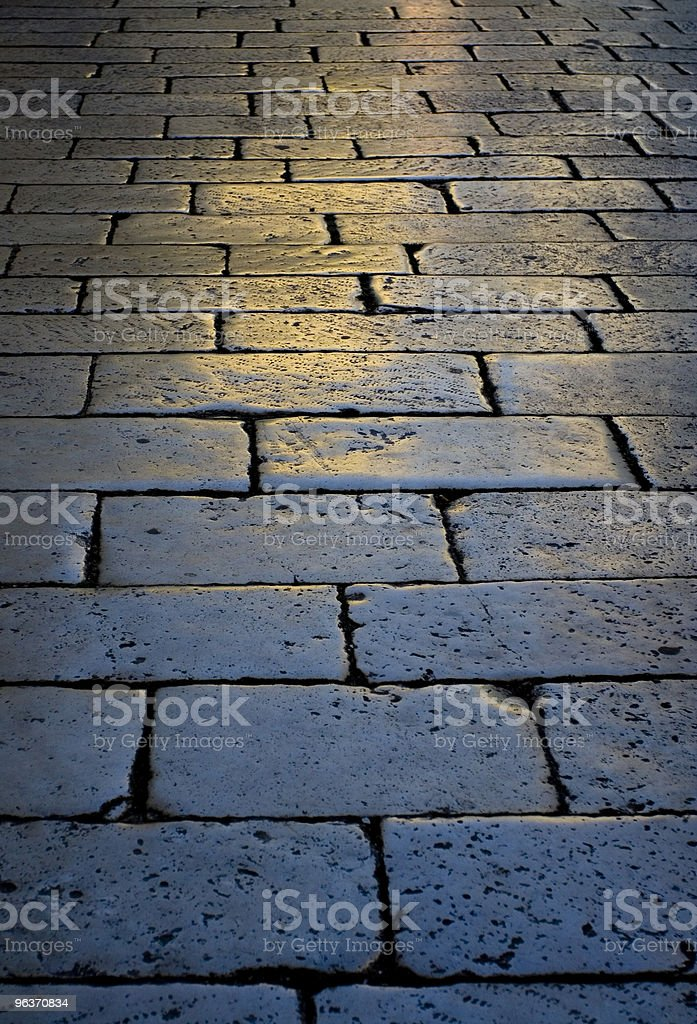 cobbled street royalty-free stock photo