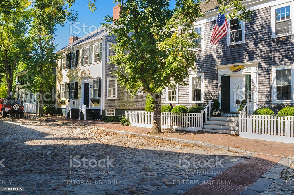 Cobbled Streets and Classic Homes stock photo