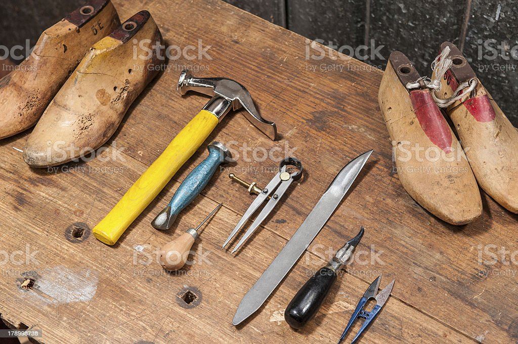 Cobbler stock photo