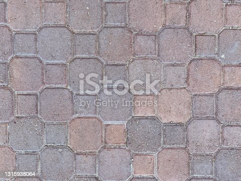 istock cobblestone driveway or sidewalk walking path vintage garden walkway overhead view 1315938064