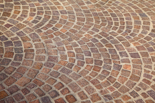 Cobblestone Pattern Street Tile Curve Stock Photo ...