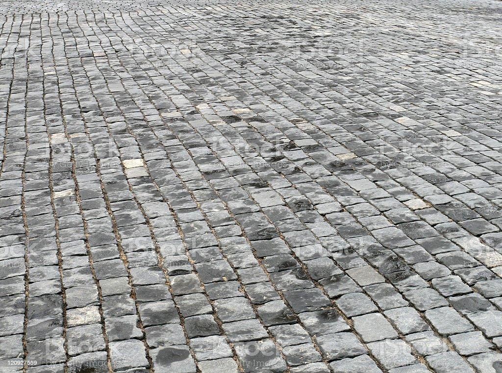 Cobblestone pavement royalty-free stock photo