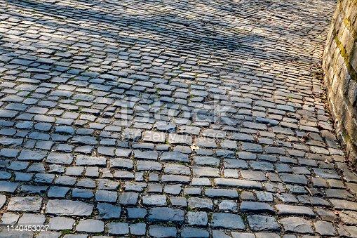 istock Cobblestone Road Detail 1140453027