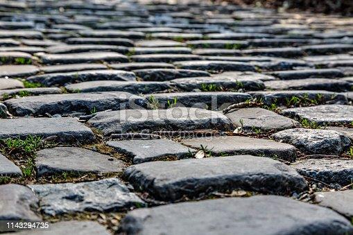 istock Cobblestone Road Detail 1143294735
