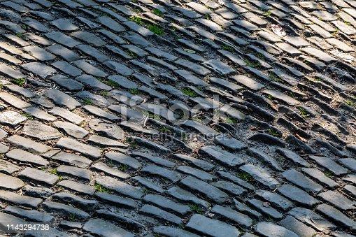 istock Cobblestone Road Detail 1143294738