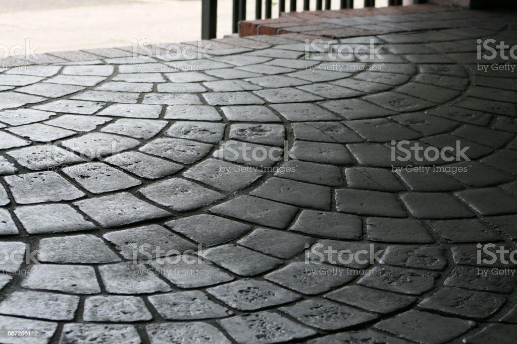 Cobblestone Sidewalk Pavers stock photo