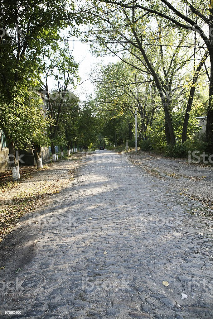 Cobblestone Street royalty-free stock photo
