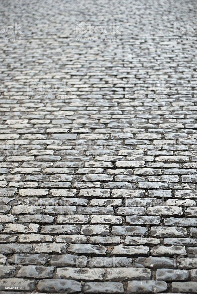 Cobblestone texture background royalty-free stock photo
