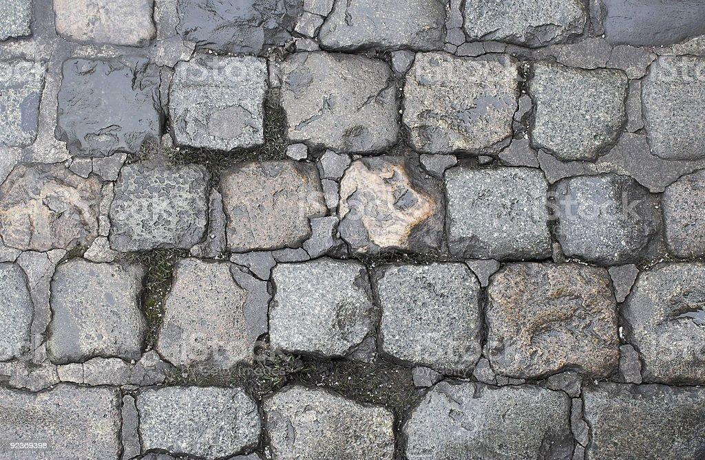 Cobblestone texture royalty-free stock photo