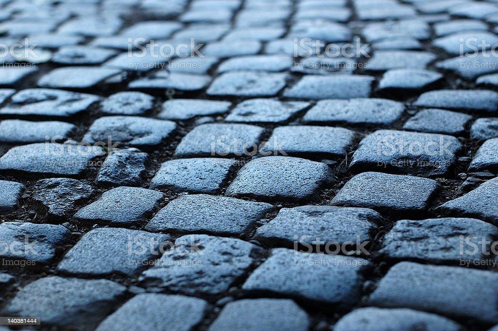 cobblestone way stock photo