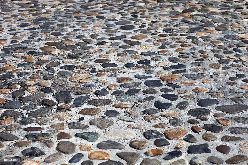 Cobblestones In Charleston, South Carolina royalty-free stock photo