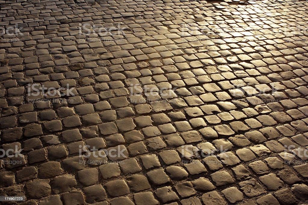 Cobblestones stock photo
