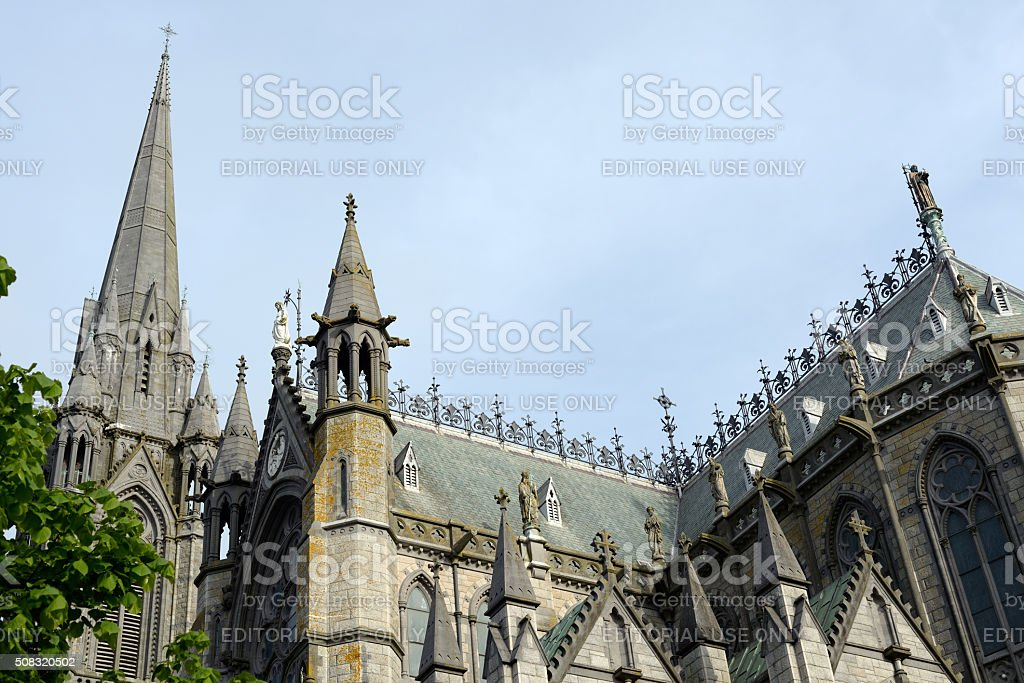 cobh cathedral in ireland stock photo