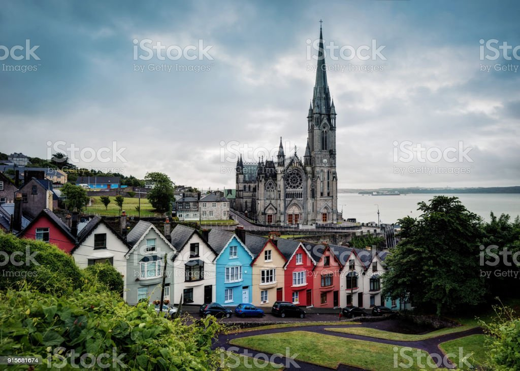 Cobh Cathedral stock photo