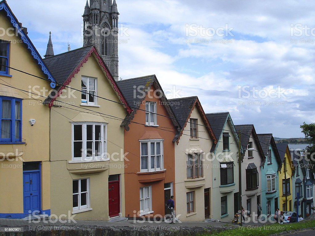 Cobh houses Ireland royalty-free stock photo