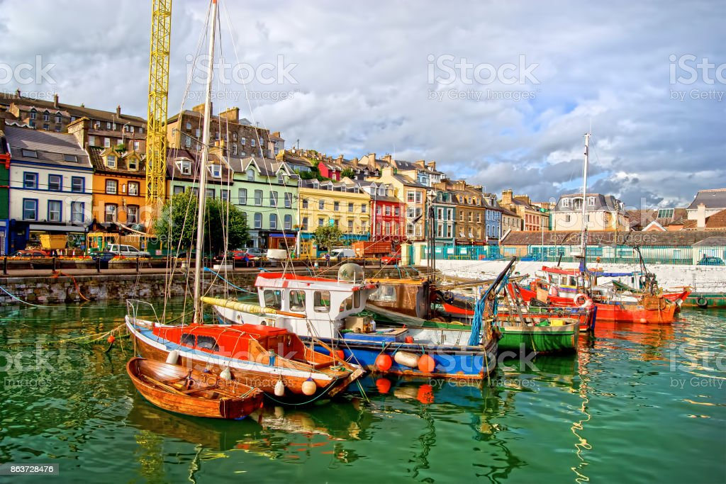 Cobh Town in Ireland stock photo
