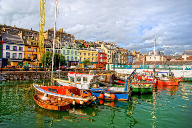 Cobh Town in Ireland stock photo