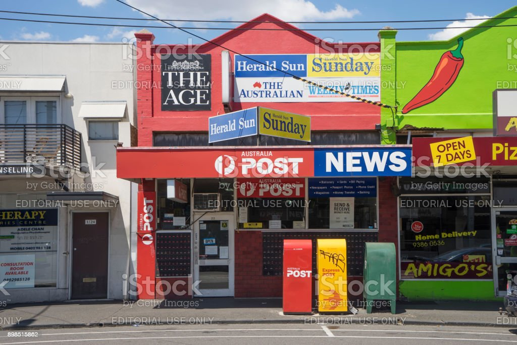 Coburg - Post Office (LPO) and Newsagency stock photo