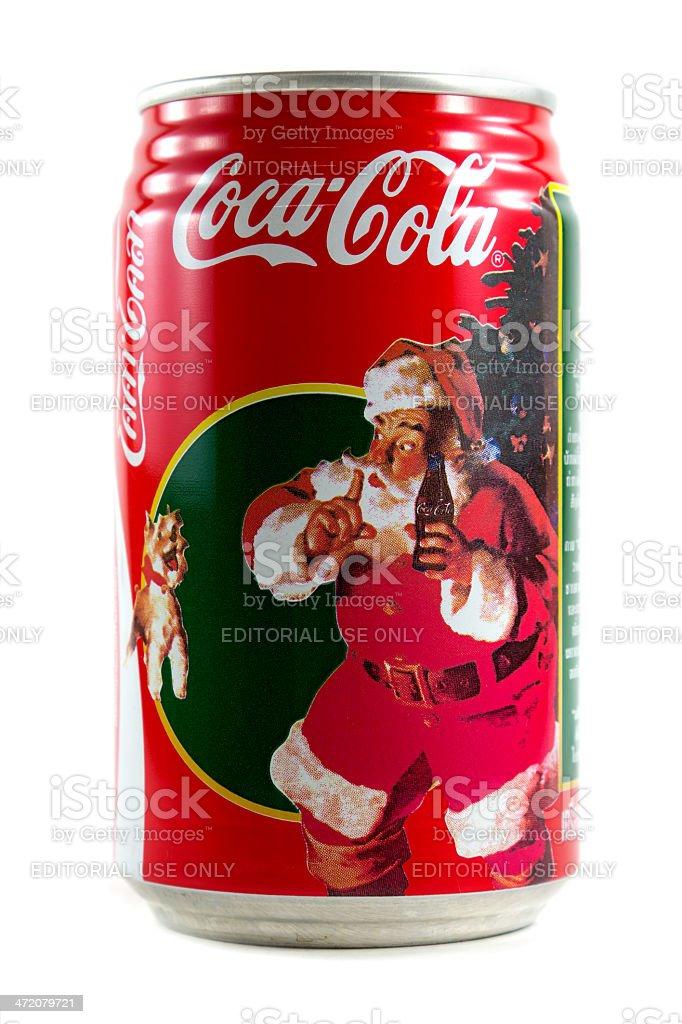 Coca Cola Tema Di Natale Isolato Su Sfondo Bianco Fotografie Stock