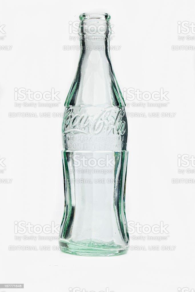 1916 Contour de botella de Coca Cola. Vacío. - foto de stock