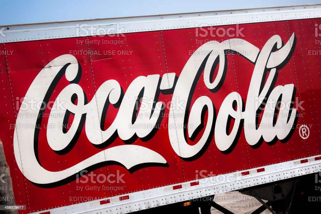 Coca Cola Truck royalty-free stock photo