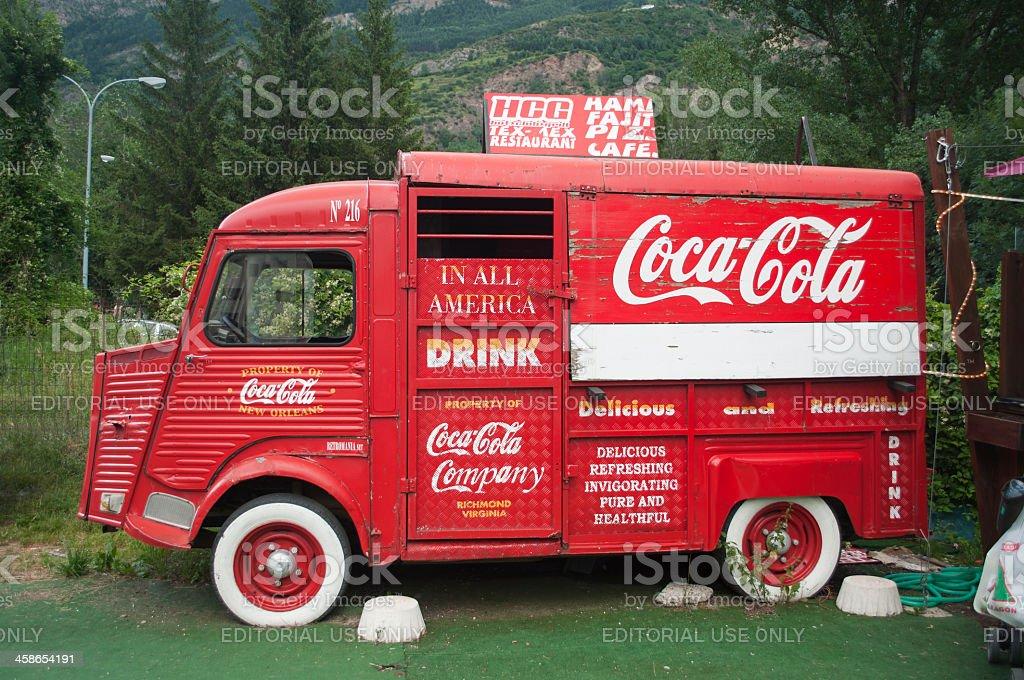 Coca Cola truck stock photo