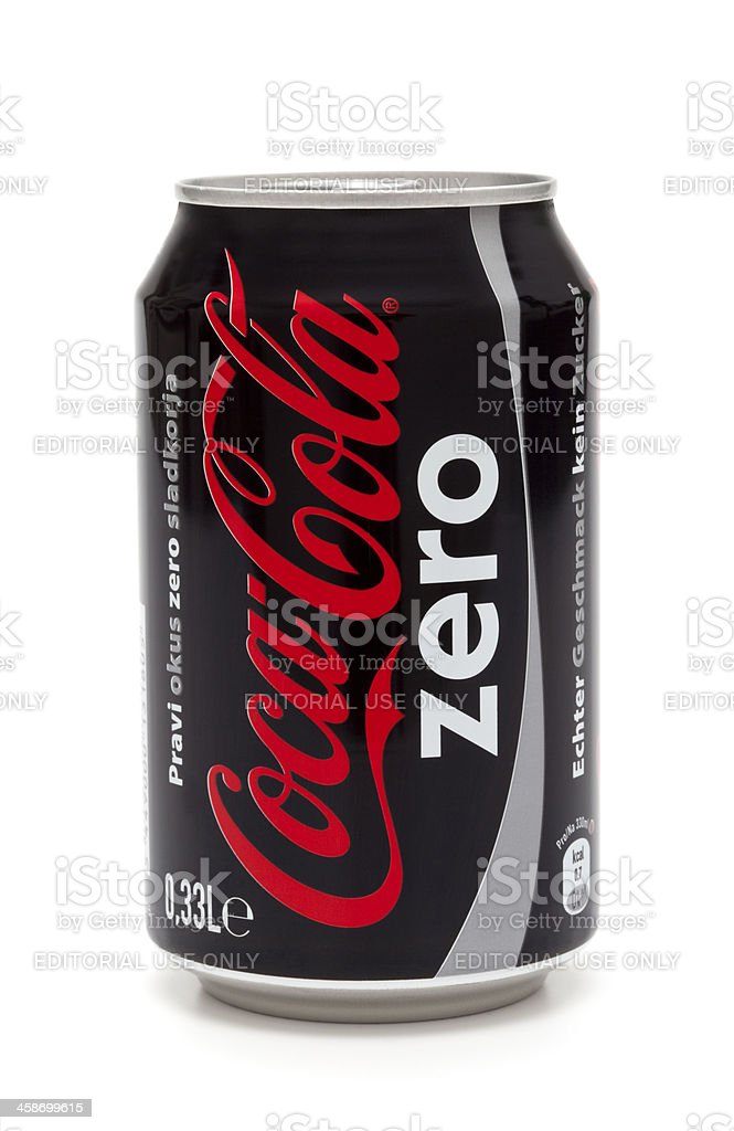 Coca Cola Zero stock photo