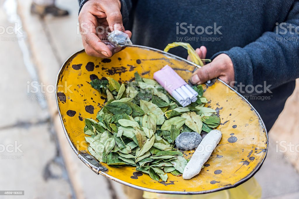 Coca Leaves in Potosi stock photo