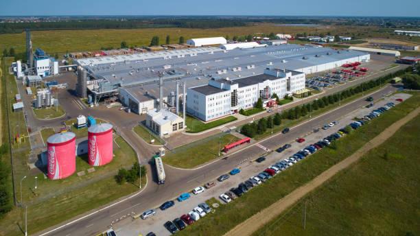 Coca Cola Bottling Plant In Velyka Dymerka Stock Photo