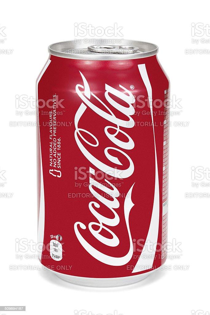 Cocacola Può Isolato Su Sfondo Bianco Fotografie Stock E Altre