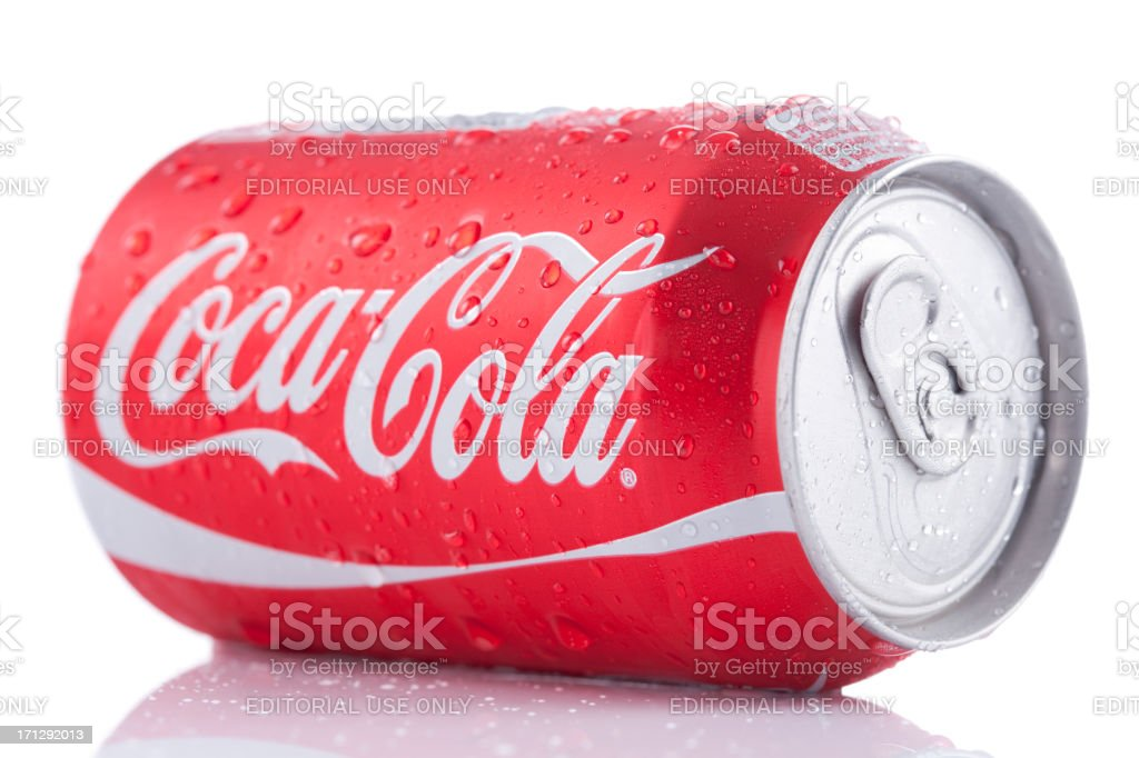 Coca-Cola Can Straight Out Of The Fridge royalty-free stock photo