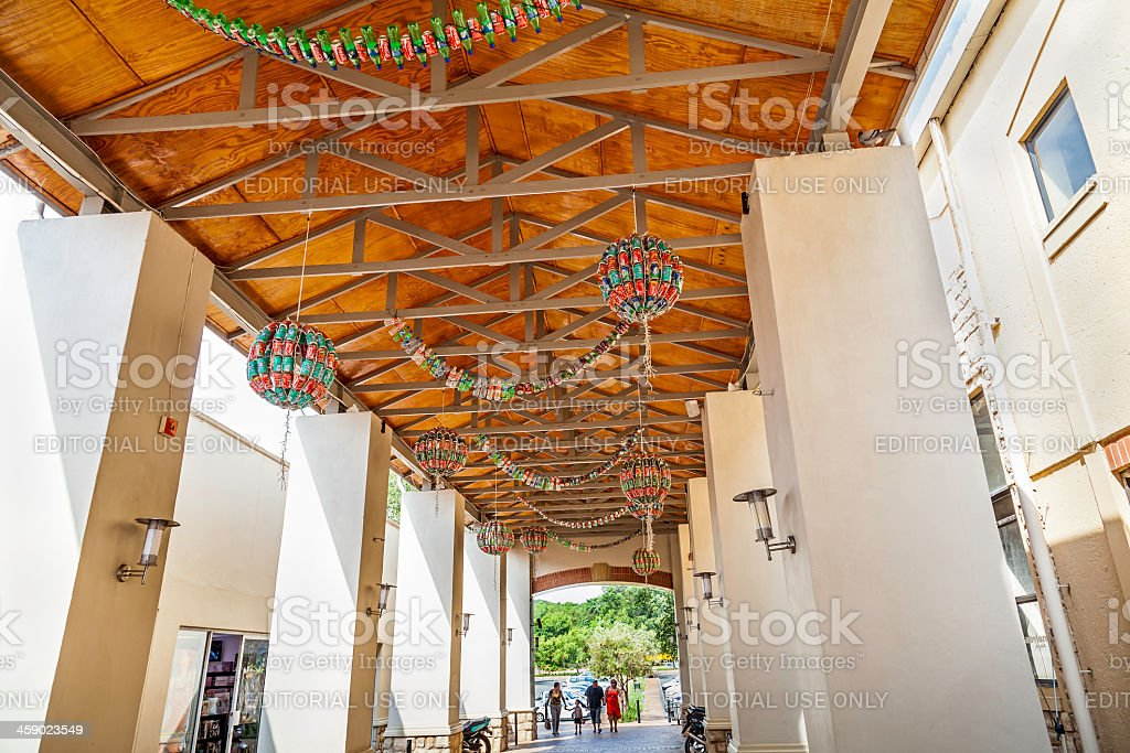 Coca-Cola Chandeliers entrance royalty-free stock photo