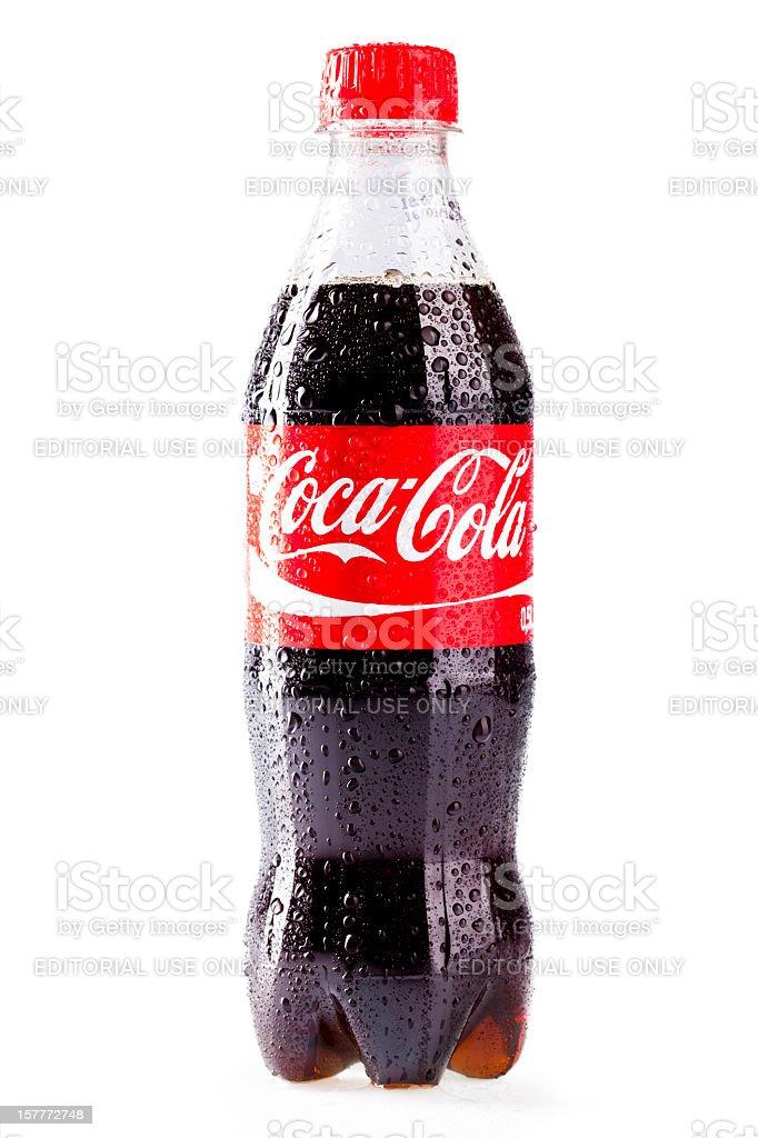 Coca-Cola botella de plástico aislado sobre fondo blanco - foto de stock