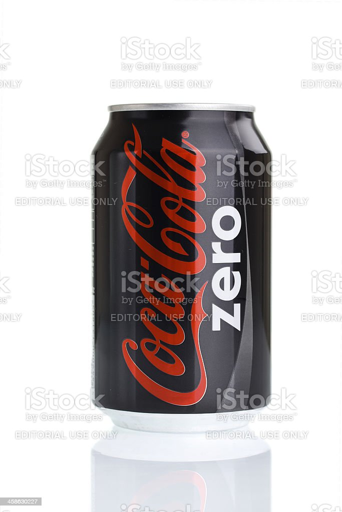 Coca-Cola Zero Can on White stock photo