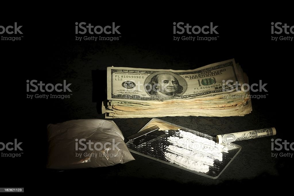 Cocaine and Cash stock photo