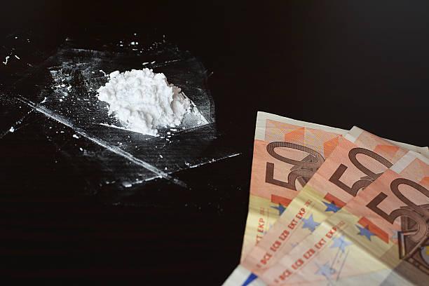 cocaine and money - ketamine stockfoto's en -beelden