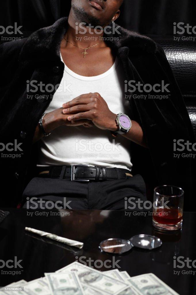 Cocaine dealer stock photo